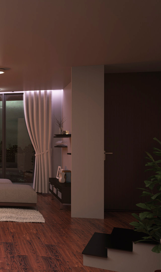 Interior 3d rendering dark