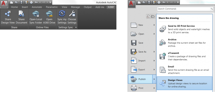 AutoCAD 2017 - Share Design View