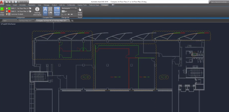 autocad 2019 - dwg compare