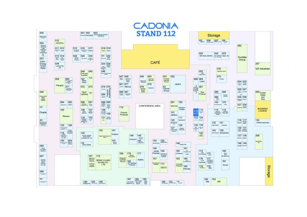 cadonia stand floor plan